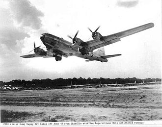 XX Bomber Command - 40th Bombardment Group B-29 42-6310 taking off from Chakulia Airfield, India, June 1944