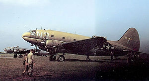 IX Troop Carrier Command - C-46 Commando of the 47th Troop Carrier Squadron, 313th Troop Carrier Group