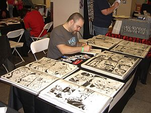 Nelson DeCastro - DeCastro drawing at the Big Apple Convention, May 22, 2011