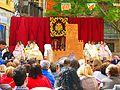 675 L'Estoreta Velleta, pl. del Carme (València), cort d'honor de la fallera major infantil.jpg