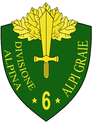6th Alpine Division Alpi Graie - Coat of Arms of the 6th Alpine Division Alpi Graie