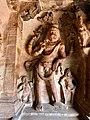 6th century Vishnu avatar Narasimha in Cave 3, Badami Hindu cave temple Karnataka 2.jpg