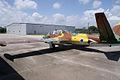 Aérospatiale Fouga CM.170-1 Magister LRear KAM 11Aug2010 (14797343718).jpg