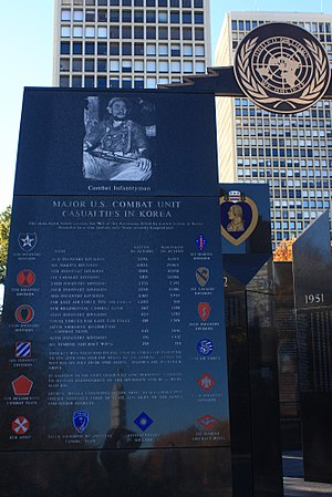 Philadelphia Korean War Memorial - Image: A399, Philadelphia Korean War Memorial, east entrance facade, south panel