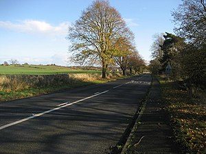 A67 road - A67 west of Gainford