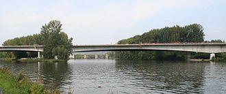 Eltmann - Autobahn A70 bridge over Main river near Eltmann