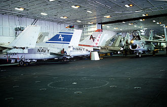 Tactical Support Wing - CVWR-20 A-7B Corsairs on the USS Carl Vinson, in 1982