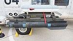 AGM-114M Hellfire II missile(INERT) mounted on JMSDF SH-60K(8404) left side view at Maizuru Air Station July 29, 2017.jpg