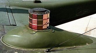 Infrared countermeasure - An ALQ-144 modulated IRCM jammer.