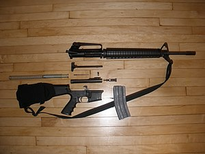 DPMS Panther Arms - DPMS AR-15 type rifle field stripped