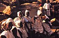 ASC Leiden - W.E.A. van Beek Collection - Dogon markets 19 - Just circumcized boys in white clothing at Tireli market, Mali 1990.jpg