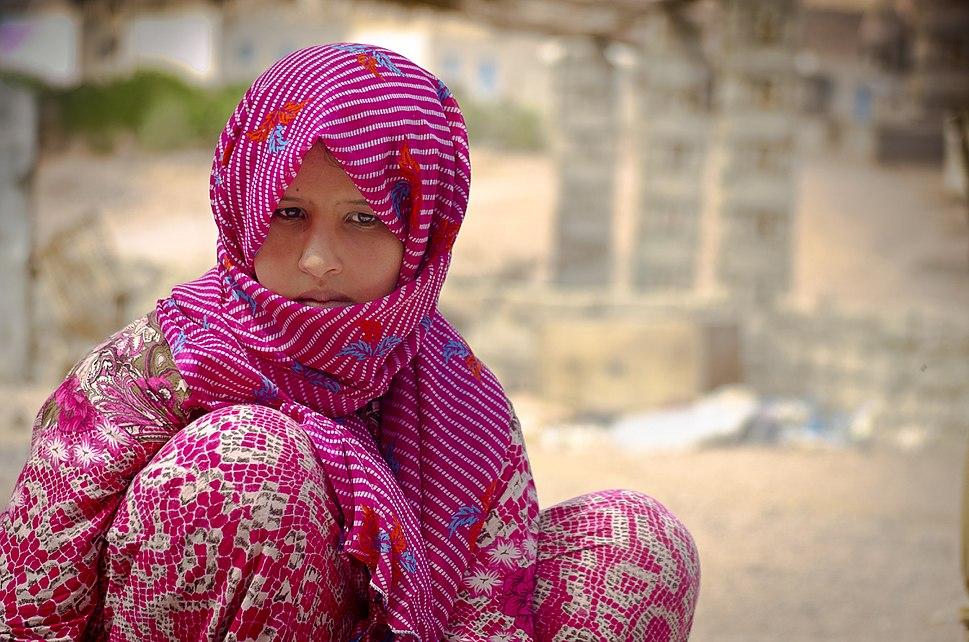 A Bedouin girl in Nuweiba - Egypt