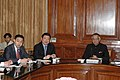A Chinese delegation led by the Asst. Minister of Public Security People's Republic of China, Mr. Chen Zhimin calls on the Union Home Minister, Shri Shivraj V. Patil, in New Delhi on November 15, 2006.jpg