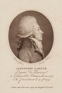 Alexandre-Théodore-Victor, comte de Lameth French soldier and politician
