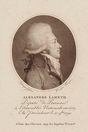 Alexandre-Théodore-Victor, comte de Lameth - Image: A Lameth