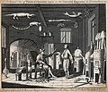 A chemist's laboratory, with the apparatus numbered for a ke Wellcome V0025581.jpg