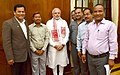 A delegation of Rabha Hasong Autonomous Council led by the Minister of State for Youth Affairs and Sports (Independent Charge), Shri Sarbananda Sonowal calls on the Prime Minister, Shri Narendra Modi, in New Delhi.jpg