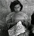 A girl, raped during the war, in the Albergo dei Poveri reformatory, Naples 1948.jpg