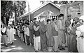 A long queue of male voters at a polling booth of Srinagar- Badgam Parliamentary Constituency during General Elections 2004 on April 26, 2004.jpg