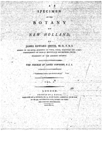 A Specimen of the Botany of New Holland cover