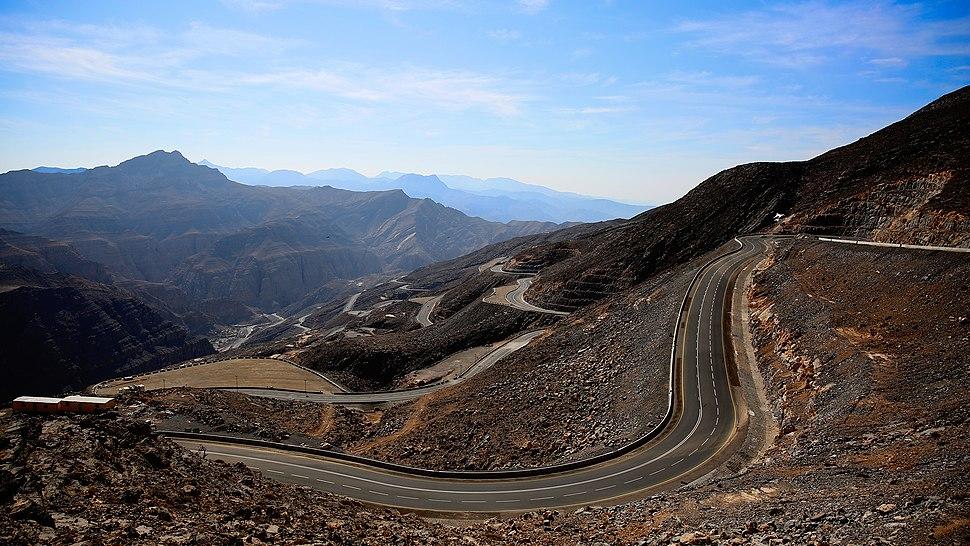 A view from the road up Jebel Jais, Ras Al Khaimah