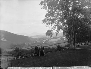 A view of the vale of Bontuchel from Fachlwyd tennis court
