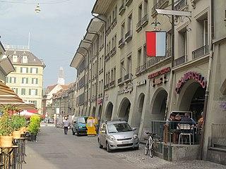alley in the city of Bern, Switzerland