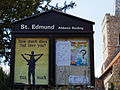 Abbess Roding - St Edmund's Church - Essex England - exterior notice sign board.jpg