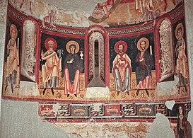 Absis de Sant Pere del Burgal, 11th c. fresco crop