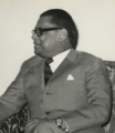 Abu Sayeed Chowdhury at the office of the Vice-Chancellor of Dacca University, November 1970.png
