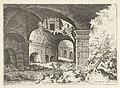 Achtste gezicht op het Colosseum te Rome Colossæi ro prospectvs 8 (titel op object) Romeinse ruïnes (serietitel), RP-P-1882-A-6444.jpg