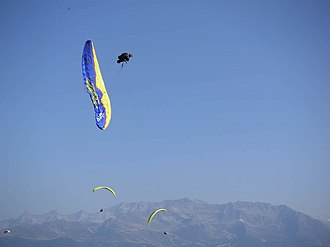 Coupe Icare - Image: Acrobatie parapente 1