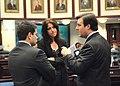 Adam Hasner confers with Ellyn Bogdanoff and Marco Rubio.jpg