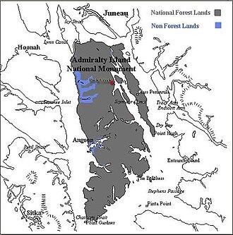 Admiralty Island - Image: Adis map