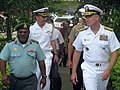 Adm. Walsh and Brig. Gen. Agwi, commander of the Papua New Guinea Defence Force (5888998511).jpg