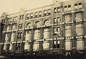 Grace Bros. - The Broadway Grace Bros. store in the 1930s