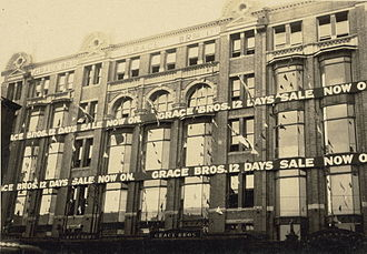Grace Bros. - The Broadway Grace Bros store in the 1930s