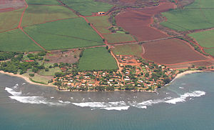 Kaumakani, Hawaii - 2004 aerial view of Kaumakani