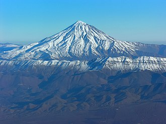Amol County - Image: Aerial View of Damavand 26.11.2008 04 25 38