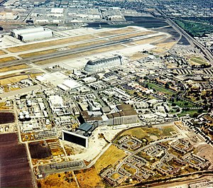 Moffett Federal Airfield - Aerial View of NAS Moffett Field and NASA Ames Research Center