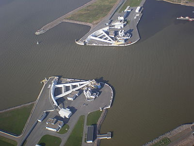 Aerial view of Navigation Pass S-1 of Saint Petersburg Dam.JPG