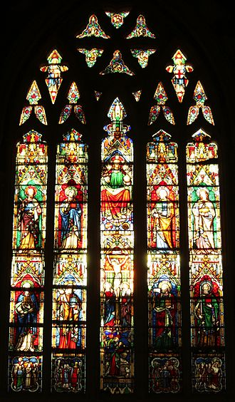 Afghan Church - Stained glass window inside the church.
