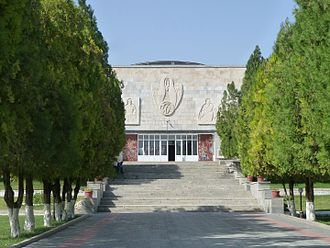 Afrasiab Museum of Samarkand - Main building of the Afrasiab Museum of Samarkand