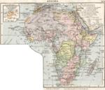 Carte allemande de l Afrique en 1905
