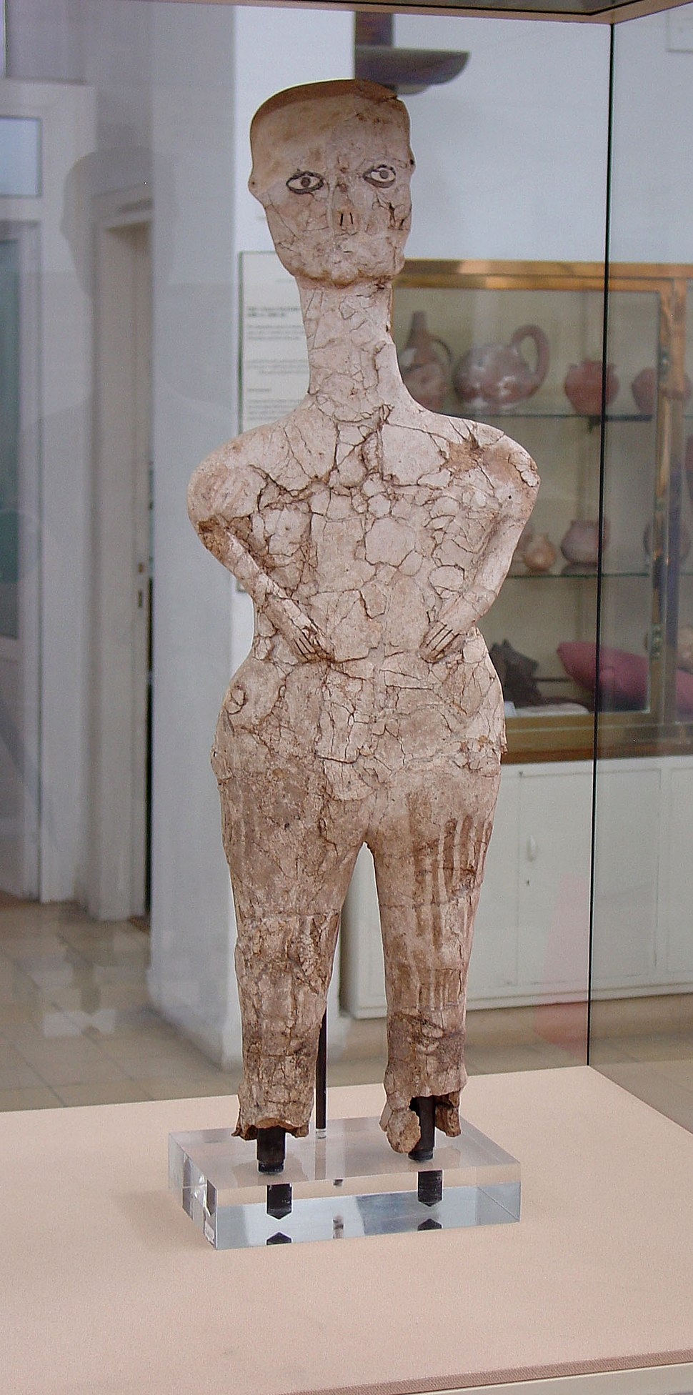 Ain Ghazal Statue Jordan Archaeological Museum Amman Jordan0821