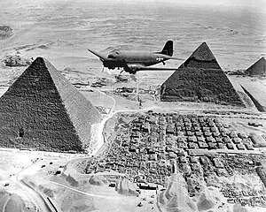 Air Transport Command - Image: Air Transport Command C 47 over the pyramids