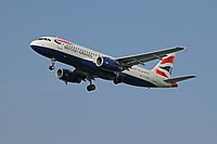 G-EUUU - A320 - British Airways