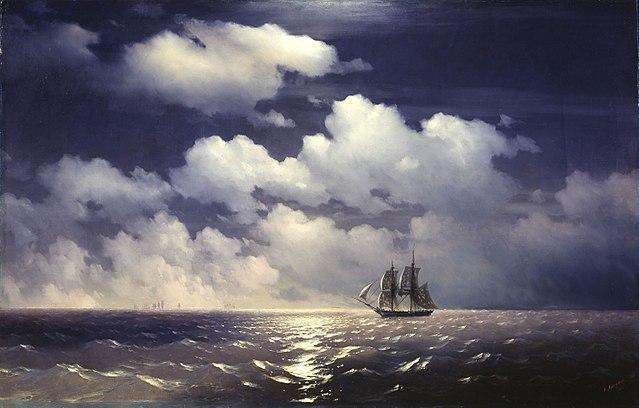 Бриг «Меркурий» после победы над двумя турецкими судами встречается с русской эскадрой. 1848