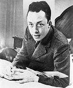 Portrait d Albert Camus, prix Nobel de littérature en 1957.