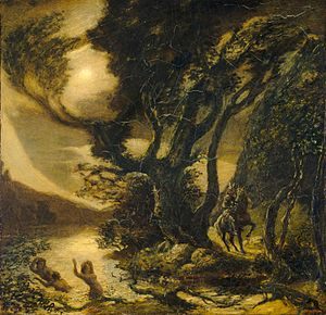 Albert Pinkham Ryder - Siegfried and the Rhine Maidens (1888–1891), National Gallery of Art, Washington, DC
